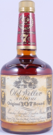 Old Weller Antique 7 Years The Original 107 Brand Kentucky Straight Bourbon Whiskey Dumpy Bottle 53,5%
