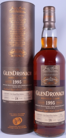 Glendronach 1995 18 Years PX Sherry Puncheon Single Cask 1732 Batch No. 2 Highland Single Malt Scotch Whisky 54.6%