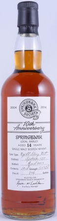 Springbank 1999 14 Years Local Barley Sherry Butt Campbeltown Single Malt Scotch Whisky 10Th Anniversary 57,8%