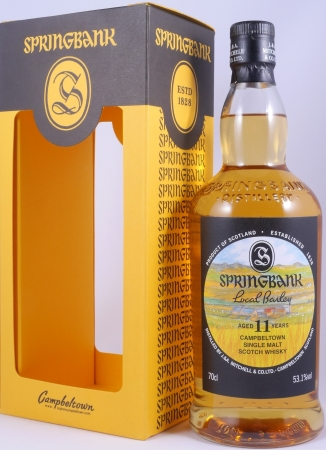 Springbank 11 Years Local Barley Release 2017 Campbeltown Single Malt Scotch Whisky 53.1%
