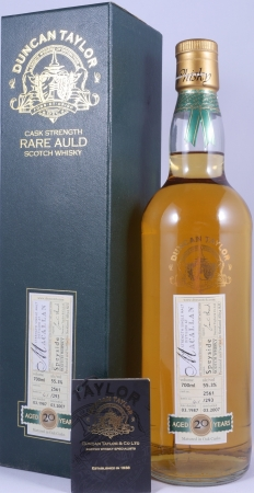Macallan 1987 20 Years Cask 2561 Highland Single Malt Scotch Whisky Duncan Taylor Rare Auld Edition 55.3%