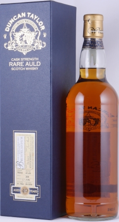 Bruichladdich 1966 40 Years Cask 200 Islay Single Malt Scotch Whisky Duncan Taylor Cask Strength Rare Auld Edition 41.6%
