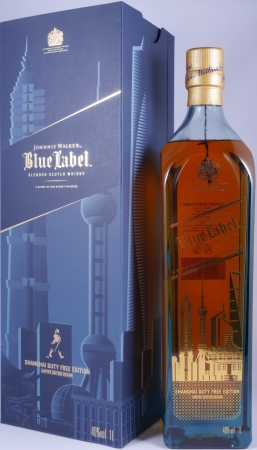 Johnnie Walker Blue Label Shanghai City Duty Free Edition Limited Design Blended Scotch Whisky 40,0%