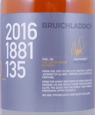 Bruichladdich Feis Ile 2016 PHD_135 limited Edition 15 Years Islay Single Malt Scotch Whisky 50.0%