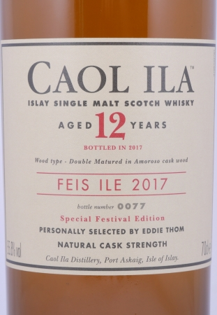 Caol Ila Feis Ile 2017 12 Years Double Matured in Amoroso Sherry Cask Islay Single Malt Scotch Whisky 55.8%