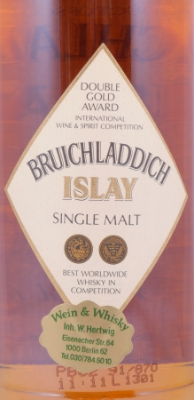 Bruichladdich 15 Years Special Reserve White Cream Label Islay Single Malt Scotch Whisky 40.0% ABV
