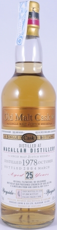 Macallan 1978 25 Years Oak Cask DL 1214 Highland Single Malt Scotch Whisky Douglas Laing Old Malt Cask 50,0%