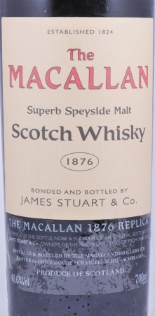 Macallan 1876 Replica Highland Single Malt Scotch Whisky 4th Edition 40.6%