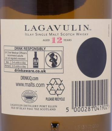 Lagavulin 12 Years 15th Special Release Limited Edition 2015 Islay Single Malt Scotch Whisky Cask Strength 56,8%
