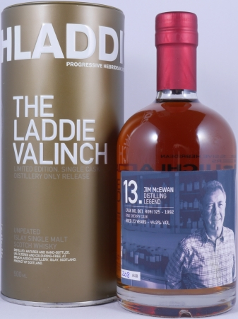 Bruichladdich 1992 23 Years The Laddie Crew Valinch 13 Jim McEwan Fino Sherry Cask 001 R09/325 Scotch Whisky 44,9%