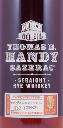Thomas H. Handy Sazerac 1998 Fall of 2006 Straight Rye Whiskey 66,35% aus der Buffalo Trace Antique Collection