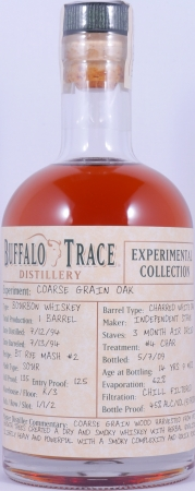 Buffalo Trace 1994 14 Years Coarse Grain Oak Barrel Bourbon Whiskey 7. Release 2009 Experimental Collection 45,0%