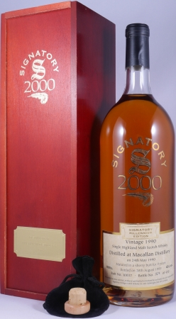 Macallan 1990 9 Years Sherry Butt No. 10037 Highland Single Malt Scotch Whisky 43.0% Vol. Signatory Millenium Edition