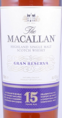 Macallan Gran Reserva 15 Years Limited 2017 Edition Highland Single Malt Scotch Whisky 43.0%