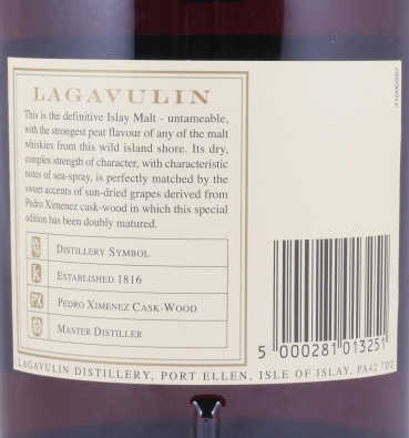 Lagavulin 1988 16 Years Distillers Edition 2004 Special Release lgv.4/492 Islay Single Malt Scotch Whisky 43,0% 1,0L