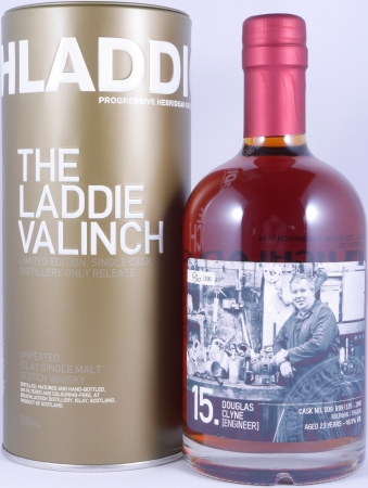 Bruichladdich 1992 23 Years The Laddie Crew Valinch 15 Douglas Clyne Engineer Cask No. 009 R09/125 Scotch Whisky 49.8%