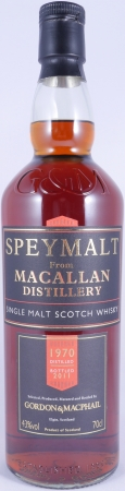 Macallan Speymalt 1970 41 Years 1st Fill Sherry Cask Highland Single Malt Scotch Whisky 43.0%