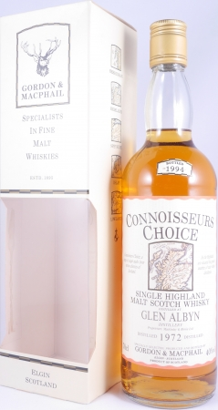 Glen Albyn 1972 22 Years Highland Single Malt Scotch Whisky Gordon und MacPhail Connoisseurs Choice Gold Screw Cap 40,0%