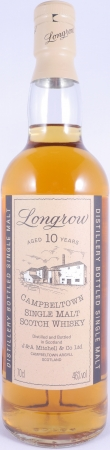 Longrow 10 Years Campbeltown Single Malt Scotch Whisky Old Bottling Cream Capsule 46,0%