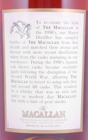 Macallan Fifties 1950s Travel Range Highland Single Malt Scotch Whisky 40.0%