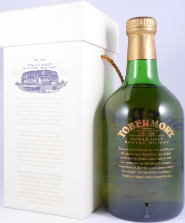 Tobermory Commemorative 200th Anniversary 1798-1998 Collectors Edition Single Malt Scotch Whisky 40.0%