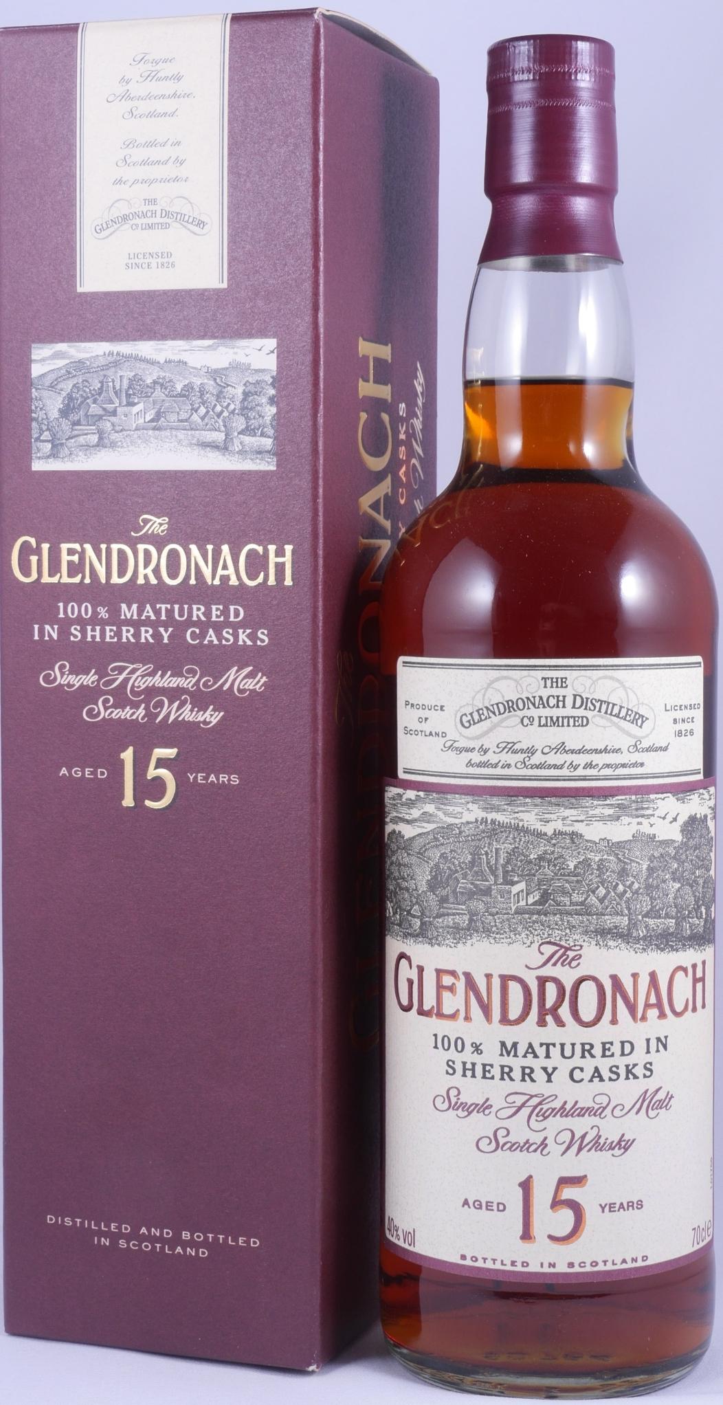 b45c100c505 Glendronach 15 Years Old Bottling 100% Matured in Sherry Casks Highland Single  Malt Scotch Whisky