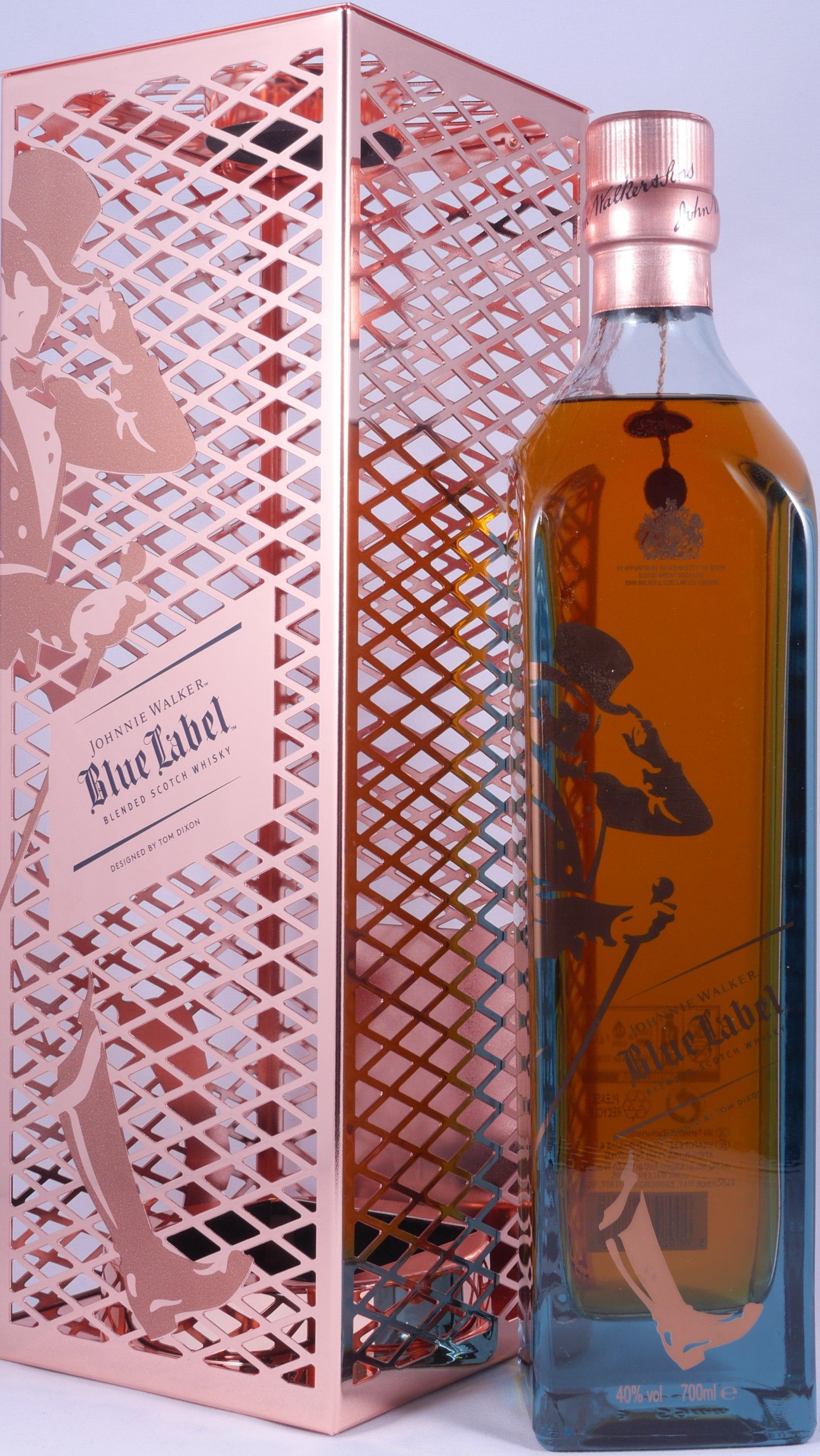 buy johnnie walker blue label tom dixon capsule limited edition blended scotch whisky 40 0 abv. Black Bedroom Furniture Sets. Home Design Ideas
