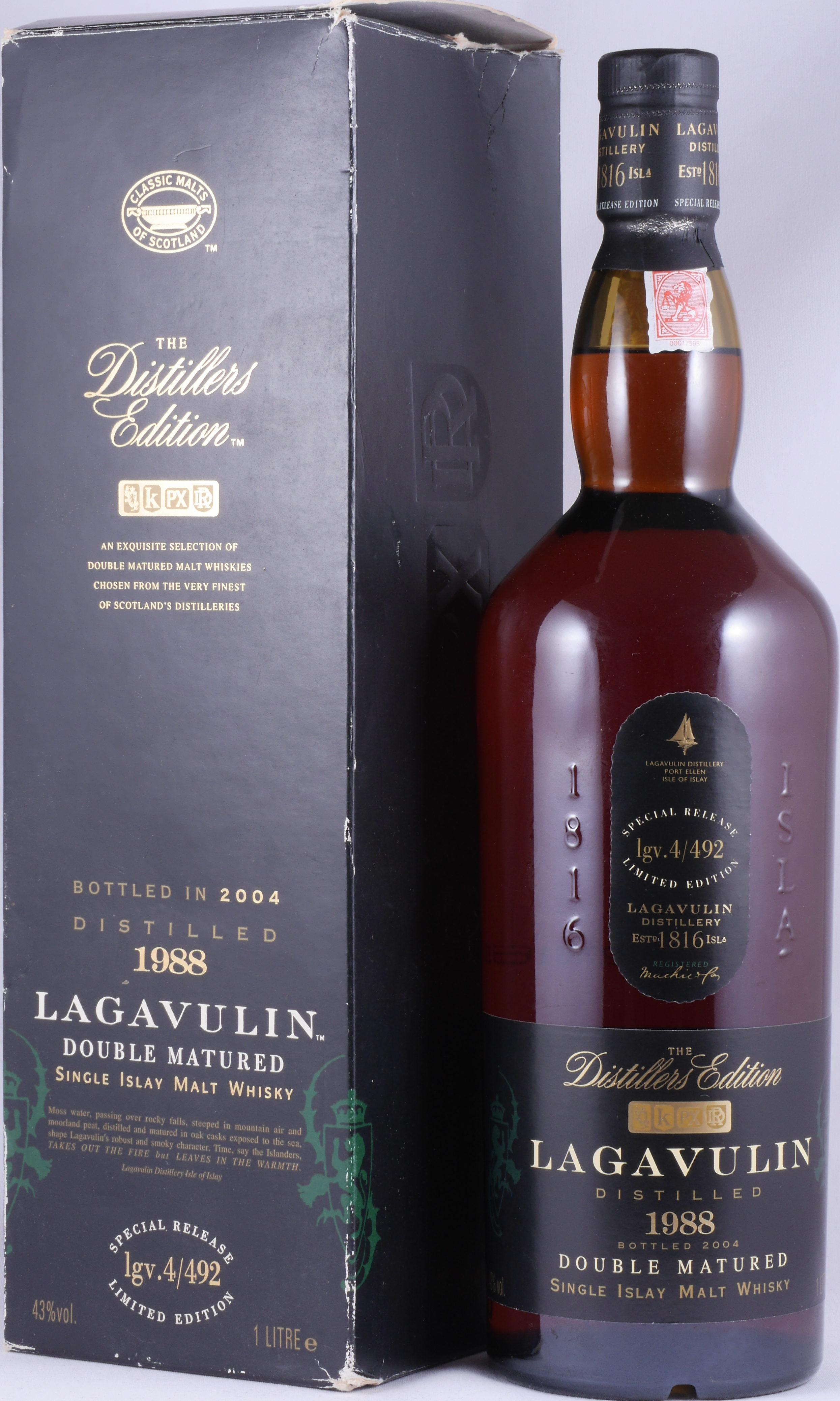 Buy Lagavulin 1988 16 Years Distillers Edition 2004