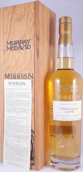 Lagavulin 1979 23 Years First Fill American Oak Islay Single Malt Scotch Whisky Murray McDavid 46.0%