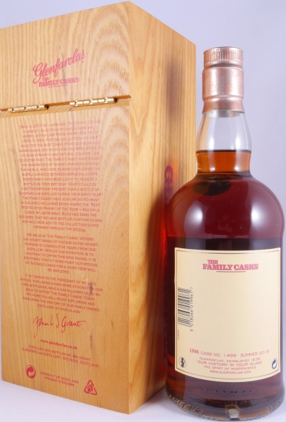 Glenfarclas 1996 22 Years The Family Casks Sherry Butt Cask 1499 Highland Single Malt Scotch Whisky Cask Strength 46,8%