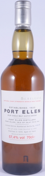 Port Ellen 1979 25 Years 5th Annual Release Limited Edition Islay Single Malt Scotch Whisky Natural Cask Strength 57.4%