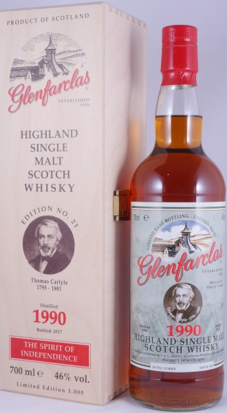 Glenfarclas 1990 26 Years Sherry Cask Highland Single Malt Scotch Whisky Edition No. 21 Thomas Carlyle 46,0%