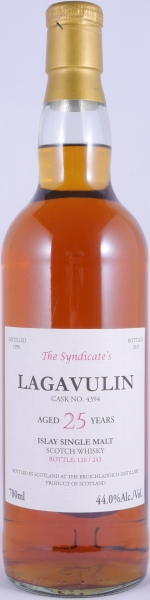 Lagavulin 1990 25 Years The Syndicates Single Cask No. 4394 Islay Single Malt Scotch Whisky Cask Strength 44.0%