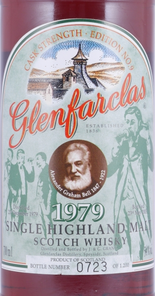 Glenfarclas 1979 23 Years Cask Strength Edition No. 9 Alexander Graham Bell Highland Single Malt Scotch Whisky 54.0%