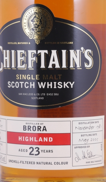 Brora 1981 23 Years Sherry Butt Cask 1514 Chieftains Choice Highland Single Malt Scotch Whisky 46.0%