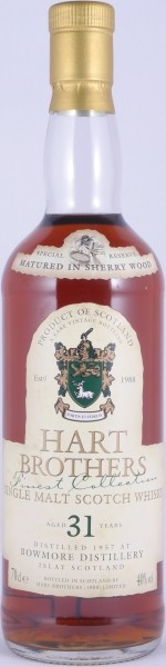 Bowmore 1957 31 Years Sherry Wood Special Reserve Hart Brothers Finest Collection Islay Single Malt Scotch Whisky 40.0%