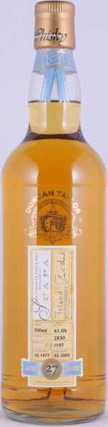 Scapa 1977 27 Years Oak Cask 2830 Duncan Taylor Cask Strength Rare Auld Edition Orkney Single Malt Scotch Whisky 61.0%