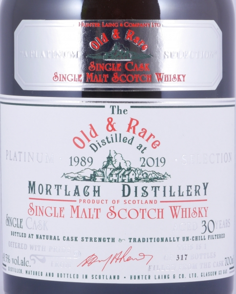 Mortlach 1989 30 Years Oloroso Cask Old and Rare Heritage Platinum Selection Speyside Single Malt Scotch Whisky 48.5%