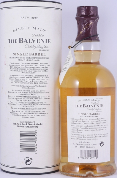 Balvenie 1979 15 Years Cask 14674 Single Barrel Highland Single Malt Scotch Whisky 50.4%