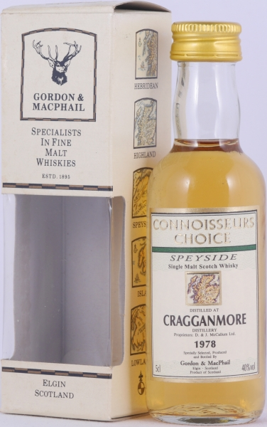 Cragganmore 1978 19 Years Gordon and MacPhail Connoisseurs Choice Miniature Speyside Single Malt Scotch Whisky 40.0%