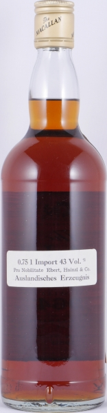 Macallan 1964 18 Years Sherry Wood Special Selection Highland Single Malt Scotch Whisky 43.0%