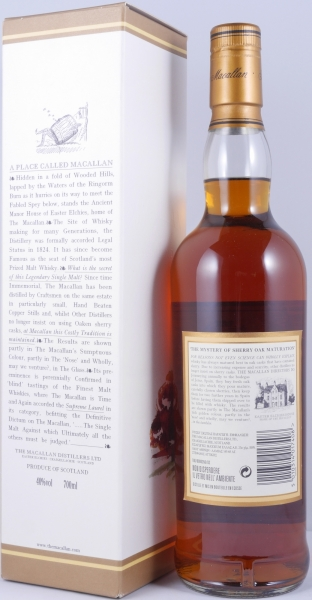 Macallan 12 Years Sherry Oak Highland Single Malt Scotch Whisky 40,0%