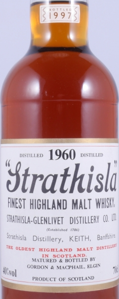 Strathisla 1960 37 Years Speyside Single Malt Scotch Whisky Gordon and MacPhail 40.0%