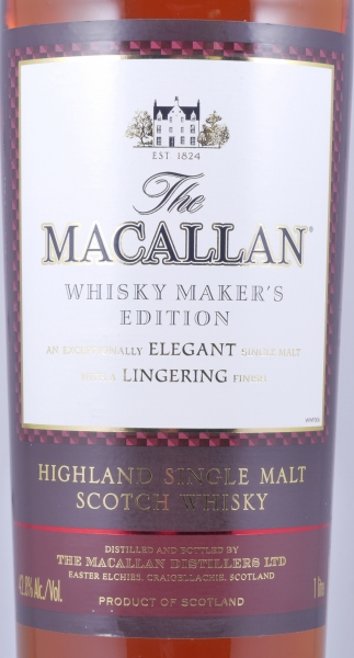 Macallan Makers Edition The 1824 Collection Highland Single Malt Scotch Whisky 42,8%
