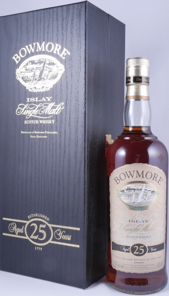 Bowmore 25 Years Sherry Cask Islay Single Malt Scotch Whisky Seagull Label 43.0%