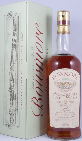 Bowmore 1972 21 Years Single Sherry Butt Seagull Label Islay Single Malt Scotch Whisky Sherry Cask Strength 49.1%