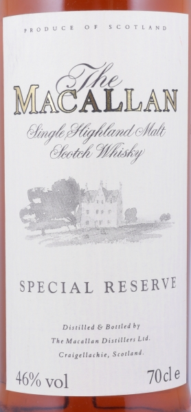 Macallan Special Reserve 2nd Limited Edition Highland Single Malt Scotch Whisky 46.0%