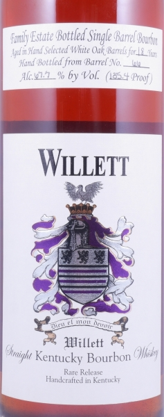 Willett 18 Years Family Estate Single Barrel No. 66 Rare Release Kentucky Straight Bourbon Whiskey 67,7%