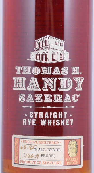 Thomas H. Handy Sazerac 2004 Fall of 2010 Straight Rye Whiskey 63,45% aus der Buffalo Trace Antique Collection