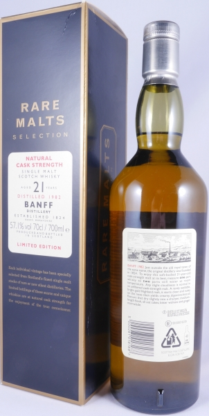 Banff 1982 21 Years Highland Single Malt Scotch Whisky Diageo Limited Edition Rare Malts Selection 57.1%